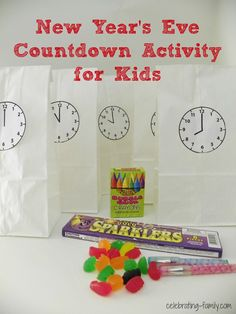 New Year's Eve Countdown Activity for Kids. Makes their night fun and keeps them busy!