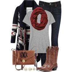 """Aztec & Ariats"" by qtpiekelso on Polyvore"