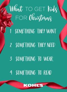 4 gift giving idea for christmas