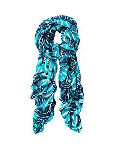 Lilly Pulitzer Lillian Oversized Scarf - Bright Navy Im Game Scarf