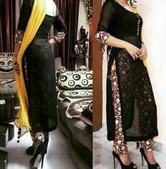 Image may contain: 2 people Patiala Suit Designs, Kurta Designs Women, Kurti Designs Party Wear, Blouse Designs, Eid Outfits, Pakistani Outfits, Indian Outfits, Designer Salwar Kameez, Patiala Salwar
