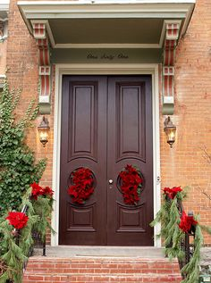 Delaware Christmas Tour of Homes, Delaware, Ohio Christmas Door, Merry Christmas, Garage Doors, Christmas Decorations, Windows, Flooring, Delaware, Fences, Ceilings