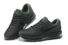 Best Nike Air Max 2017 Army Green Sports Shoes Sale Hot - $74.99