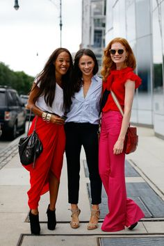 #Summer #streestyle I love the red blouse and the maxi skirt!