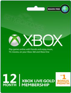 Enter to win a 13 Month Xbox Live Gold Membership! WHOA!