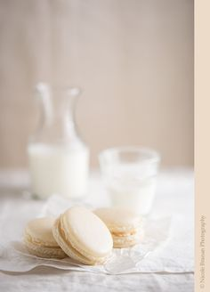 Salted caramel macarons recipe - Vanilla-flavored almond meringue shells with a caramel buttercream and coarse salt filling.| TheSpiceTrain.com