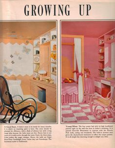 Today, nine images of 1960s bedrooms, kid's spaces and more from my new stash of vintage Sherwin-Williams paint brochures. I'm seeing plenty of good ideas in these interiors from 1967. In particular, I love the built-in nooks… the high-contrast, graphic interiors… and the wonderful touch the interior designers have, in terms of choosing accent colors …