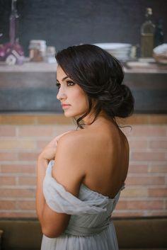 Soft undone bridal updo #hairandmakeupbysteph #bridalupdo (bridal updo loose)