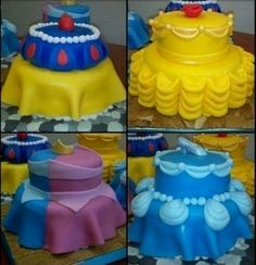 "Disney princess birthday cake ideas. We can help achieve this look at Dallas Foam with cake dummies, cupcake stands and cakeboards. Just use ""2015pinterest"" as the item code and receive 10% off your f"