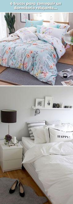 Trucos para decorar dormitorios. Dormitorios relajantes. ideas para dormitorios principales. Decoración de habitaciones.