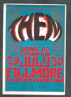 Original Them Postcard BG020 Fillmore Auditorium by GyanarthiBooks, $15.00