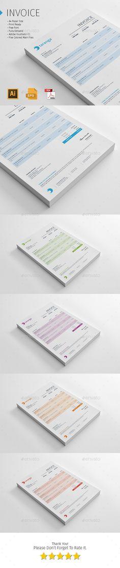 invoice design Invoice design Pinterest Design resume