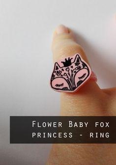 Baby fox princess -  children ring by FoxyFoxShop on Etsy