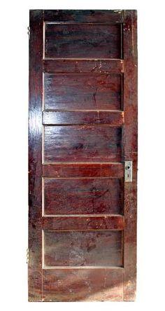 Five horizontal panel interior door