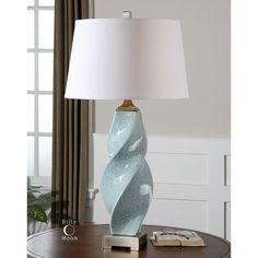 Uttermost Girata Twisted Ceramic Lamp 26496