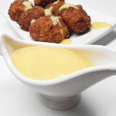 Mustard Sauce - DELICIOUS..... Good for baked ham as a dipping sauce at the table. I used half the amount of sugar and apple cider vinegar instead of white vinegar. Good for sandwiches, chicken, pork chops. YUMMY! GREAT ON HAM SANDWICHES