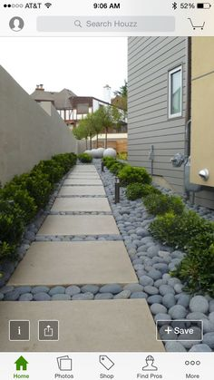 Steal these cheap and easy landscaping ideas for a beautiful backyard. Get our best landscaping ideas for your backyard and front yard, including landscaping design, garden ideas, flowers, and garden design. Side Yard Landscaping, Landscaping With Rocks, Modern Landscaping, Landscaping Ideas, Walkway Ideas, Stone Landscaping, Modern Backyard, Black Rock Landscaping, Sideyard Ideas