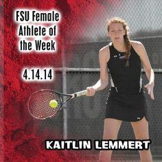 Instagram user @frostburgsports wants to congratulate Kaitlin Lemmert on being FSU Female Athlete of the Week! #instaFrostburg