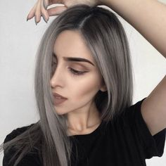 New hair color silver ombre ash brown Ideas Ash Blonde Hair, Ombre Hair, Balayage Hair, Ashy Hair, Hair Day, New Hair, Dream Hair, Silver Hair, Silver Ombre