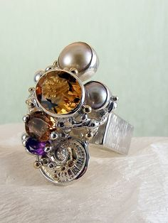 gregory pyra piro square #ring 4291 #sterling #silver with a touch of solid…