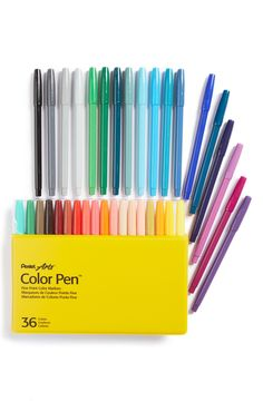 Here's to adult coloring books! Yearning for these Pentel color pens. Adult Coloring, Coloring Books, Coloring Pages, School Supplies, Art Supplies, Office Supplies, Pen Sets, Pen And Paper, Stationary School