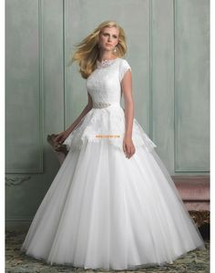 Prinses Tule Korte mouw Bruidsmode 2014