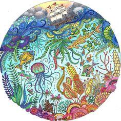 """ #LostOcean #johannabasford @johannabasford @coloring_secrets #coloring_secrets #myCreativeEscape"""