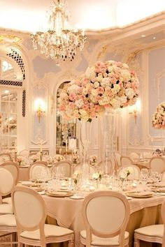 Pale pink, blush, nude, tan, champagne color palette wedding flowers centerpieces - Click image to find more weddings posts