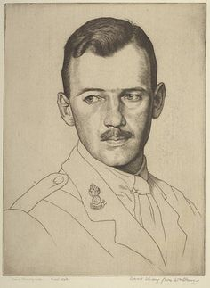 Portrait of David Strang, 1919 by William Strang RA (Scottish 1859-1921).....etching.....William Strang married Agnes McSymon, who was also from Dumbarton, in 1885, and the couple had four sons and one daughter. Two of their sons, Ian (1886 – 1952) and David (1887 – 1967), became printmakers. Ian was an etcher, draughtsman and painter mainly of architectural and landscape subjects who, like his father, trained at the Slade. Ian Strang wrote The Student's Book of Etching in 1938. David Strang…