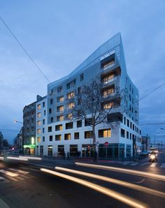 Image 9 of 19 from gallery of Social Housing Units in Saint-Denis / Atelier du Pont. Photograph by Luc Boegly Facade Architecture, Contemporary Architecture, Saint Denis, Social Housing, Family First, Photos, Pictures, Urban Design, Saints