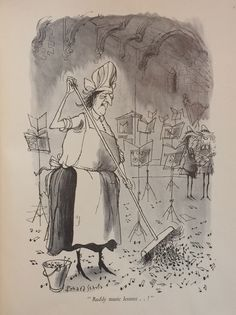 From 'Souls in Torment', a dark yet funny book in which Searle depicted (as only he can do) the unpleasant moods of the soul.