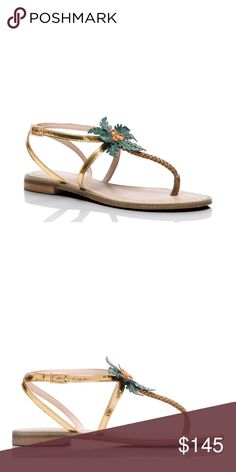 NWOT Kate Spade Palm Tree Sandals 8.5 Adorable Palm Tree Sandals! Perfect for a tropical vacation or when you just want to feel like you're on a tropical vacation! NWOB kate spade Shoes Sandals