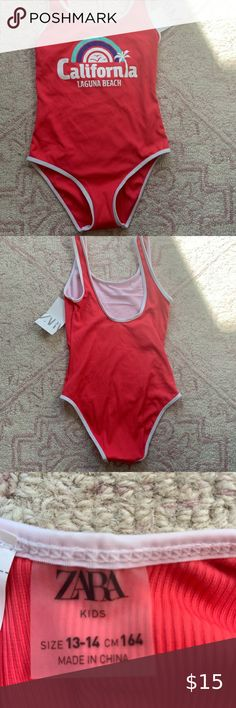 California laguna beach red Red children's swimsuit Tags Never worn Kids Zara Swim One Pieces Laguna Beach, Gym Shorts Womens, Zara, Swimsuits, Swimming, One Piece, California, Best Deals, Children
