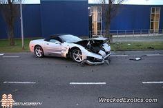 Chevrolet Corvette crashed in Poeldijk, Netherlands