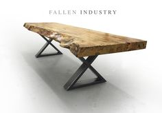 Live edge custom built modern furniture and architectural elements made from reclaimed wood and fallen trees by Fallen Industry. Fallen Industry is a home and office design studio based in NYC Brooklyn. Created by New York sculptor and designer Paul Kruger.