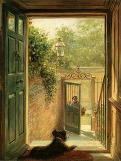 A Philadelphia Doorway 1882 by Edward Lamson Henry | Art Posters & Prints Gustave Courbet, Fine Art Prints, Canvas Prints, China Painting, African American Art, Art Reproductions, Canvas Frame, Online Art, Poster Prints
