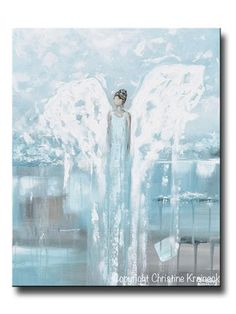"""Angel Painting """"Forever by Your Side"""" -ORIGINAL fine art, abstract, angel painting depicting a stunning guardian angel gently guiding and providing strength, love, hope, and comfort. This hand-painted, palette knife, contemporary, spiritual piece possesses not only a comforting sense of peace and calm, but with its' soothing shades of contemporary warm colors & textured layers of paint, it also contains a contemporary, stylish, classic feel, perfect for any home decor. Created with a soft…"""