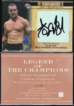 Wrestling Cards 183435: Prince Devitt (Finn Balor) 2011 Bbm Legend Of The Champions Autograph 90 -> BUY IT NOW ONLY: $175 on eBay!