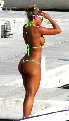 Green Bikini Booty via Booty of the Day at bootyoftheday.co