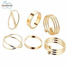 6PCS/Set Fashion Women Lady Ring Jewelry Finger Tip Stacking Rings