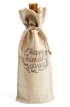 Free shipping and returns on Levtex 'Friendsgiving' Wine Gift Bag at Nordstrom.com. Celebrate friendship and the season of gratitude in rustic style with a burlap wine bag that's a perfect addition to your next hostess gift.