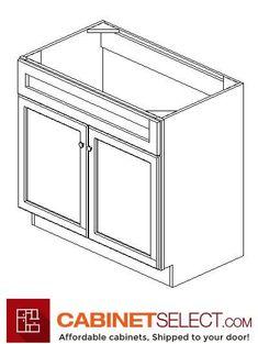 Buy Greystone Shaker Kitchen Cabinets - RTA Cabinets by CabinetSelect Types Of Cabinets, Base Cabinets, White Cabinets, Plywood Shelves, Veneer Door, Shaker Kitchen Cabinets, Desk With Drawers, Drawer Fronts, Cabinet Doors