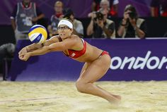 Beach Volleyball: Women's Gold Medal Match - Oh yeah!!  Love this shot....I will be doing this tomorrow :)