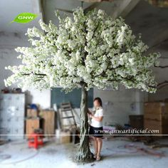 Source BLS038-2 GNW wedding tree artificial cherry blossom 13ft white color for decoration on m.alibaba.com