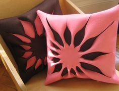 bijou kaleidoscope: eye candy cushions  Interesting concept