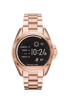 10 Gadgets To Up Your Tech Game, Right Now #refinery29  http://www.refinery29.uk/cool-tech-gadgets-new-2016#slide-6  Michael Kors Access Bradshaw Rose Gold-Tone Smartwatch, £359This might look like a classic statement watch but it's so much more. With the Michael Kors smartwatch you can receive email, te...