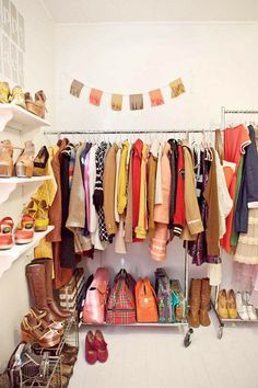 Wish this closet was mine, and the shoes.. the shoes would be such a plus