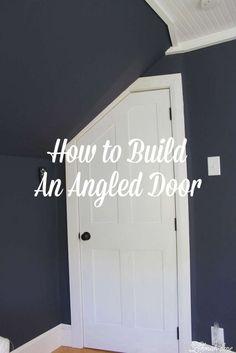 DIY - How to Build an Angled Door - One Room Challenge Week 5