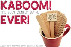 The Starr Spangled Planner: Kaboom! Possibly The Best Center Game Ever! School Classroom, Math Games, Classroom Activities, Multiplication Games, Classroom Ideas, Spelling Games, Classroom Routines, Future Classroom, Preschool Ideas