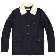 Universal Works Crofter Jacket (Navy Wool Melton)